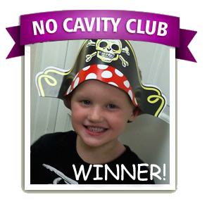 Gavin is the No Cavity Club Winner of the month for November
