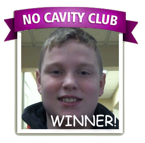 Nolan is the No Cavity Club Winner of the month for January