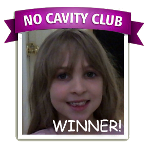 Kyra N. is the No Cavity Club Winner of the month for April. Congratulations Kyra!!